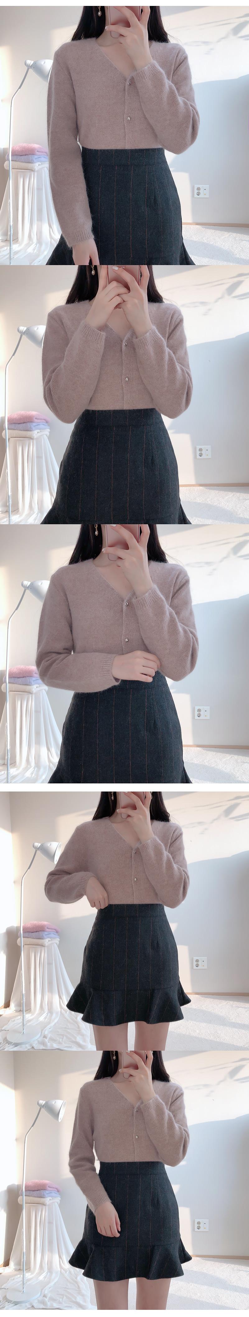 Wool 60% Angora cardigan