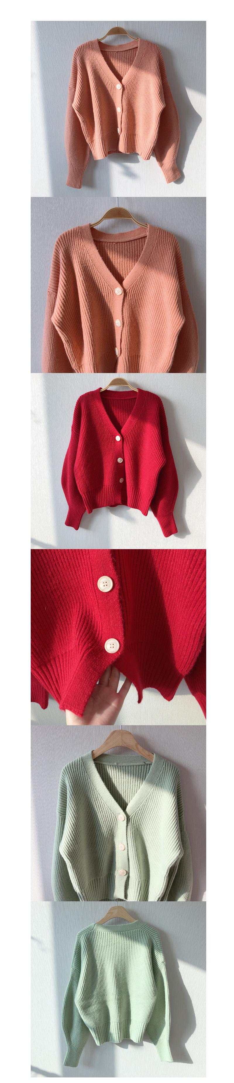 50% of wool balloon button cardigan