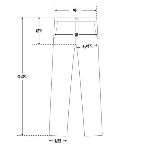 moulin light denim pants (s, m)