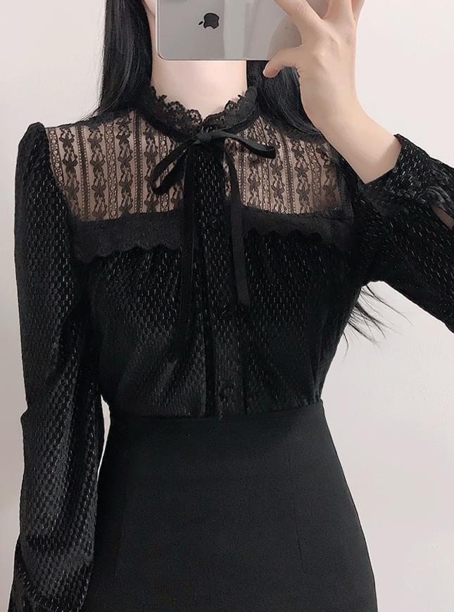 Diamond velvet lace