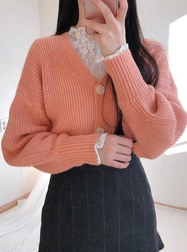 New discount ♥ wool 50% like balloon button cardigan nt