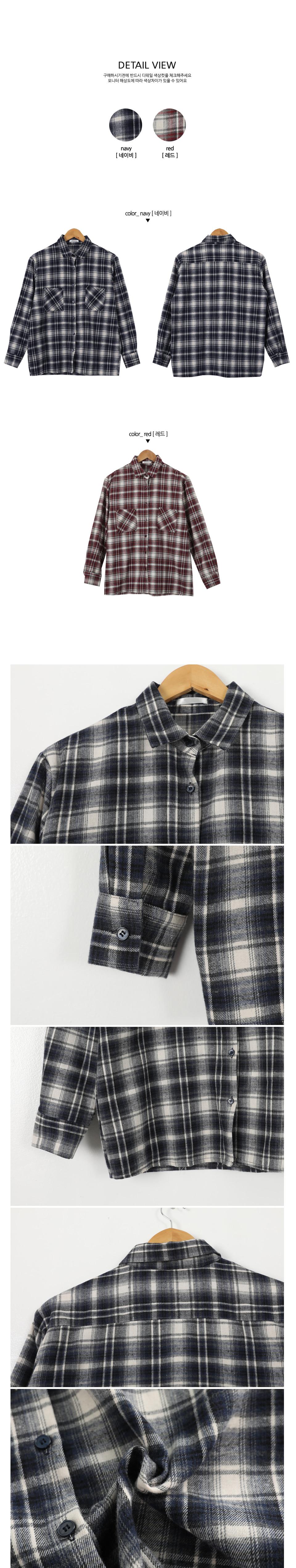 Formal check brushed shirt