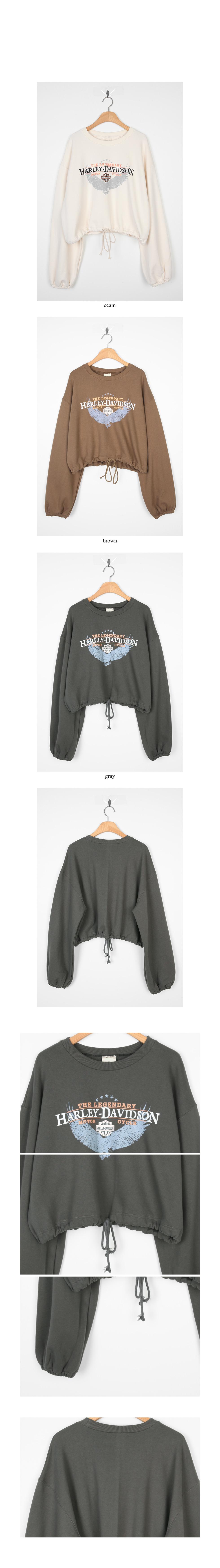 vintage printing crop sweatshirts