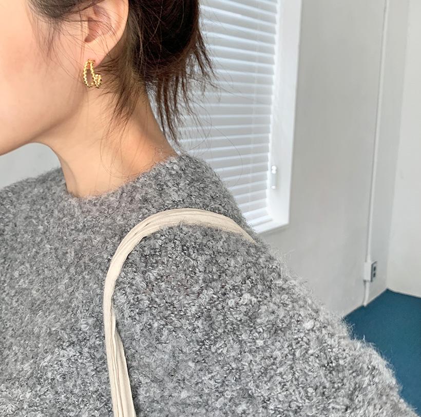 Double twist earring_C