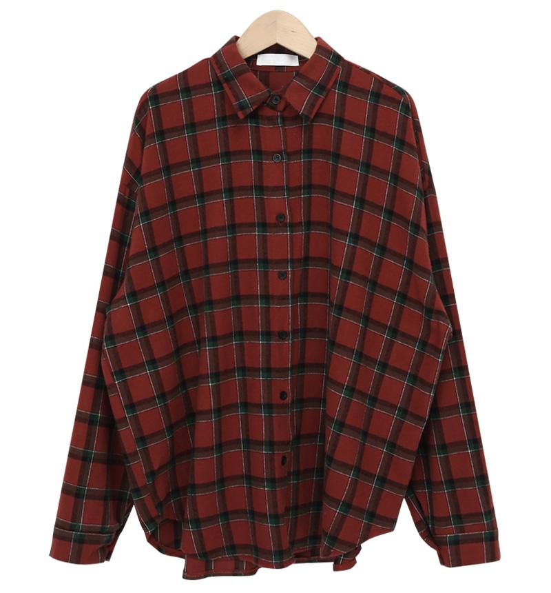 Carpet loose check shirts_C