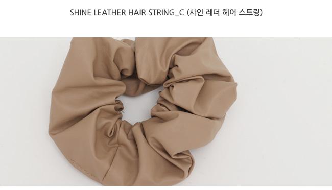 Shine leather hair string_C