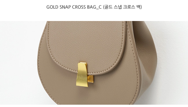 Gold snap cross bag_C (size : one)