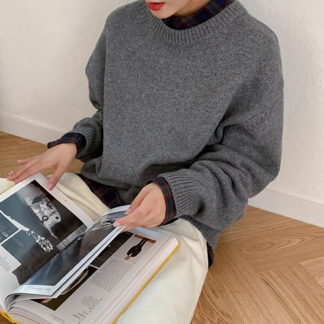 Daily Round Neck Wool Knit-knit