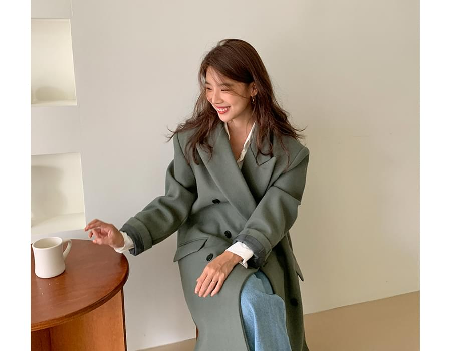Prize double wool coat_A (size : free)