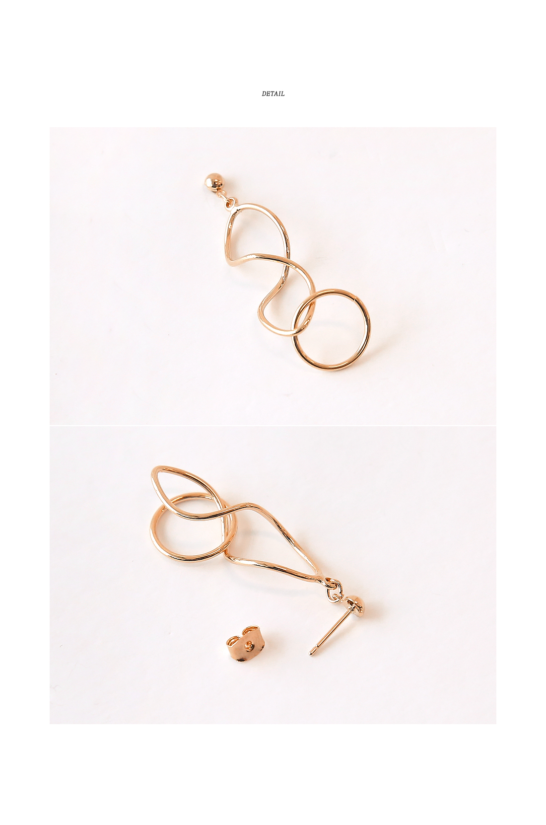STRONG WAVE DROP EARRING