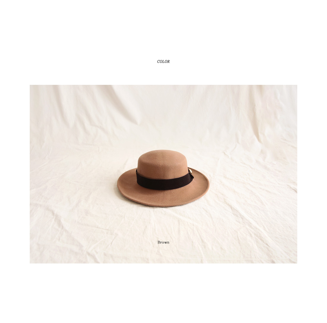 METTO WOOL BOATER HAT