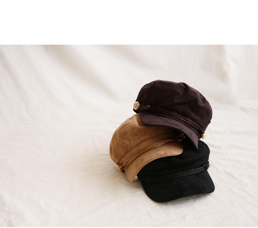 SUEDE MATROOS ROPE HUNTING CAP