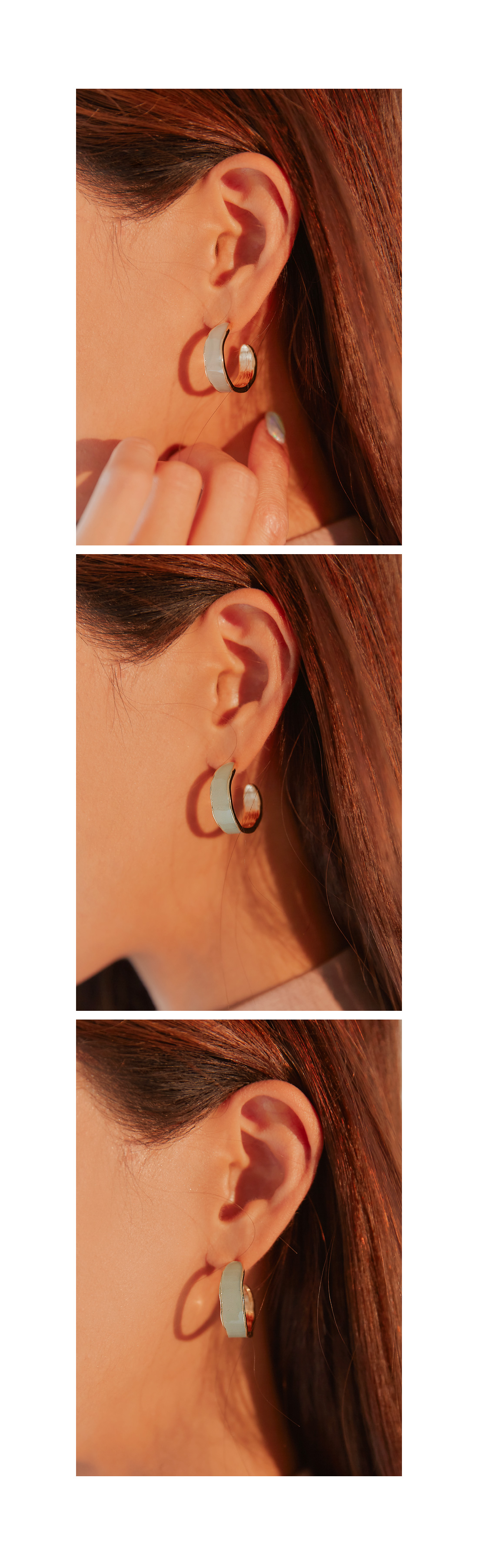 HASWELL COLOR RING EARRING