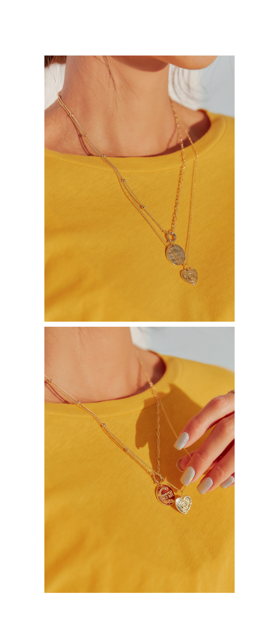 MAYBE HEART PENDANT NECKLACE
