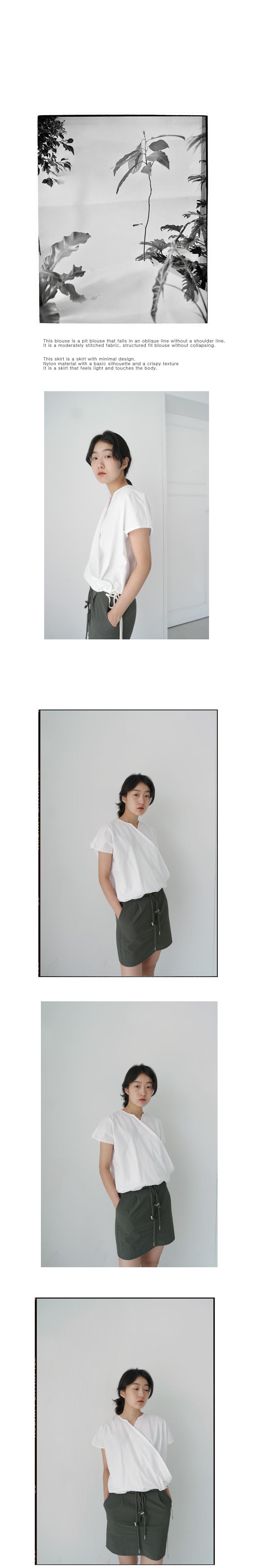 waist string minimal skirt
