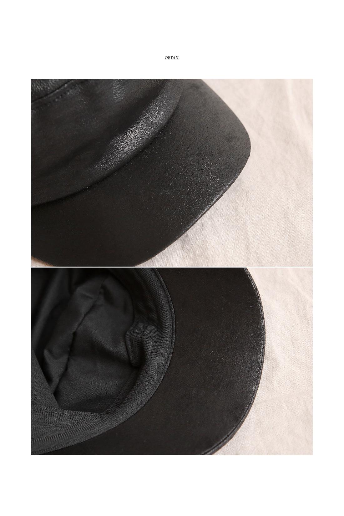 WAYNE LEATHER HUNTING CAP