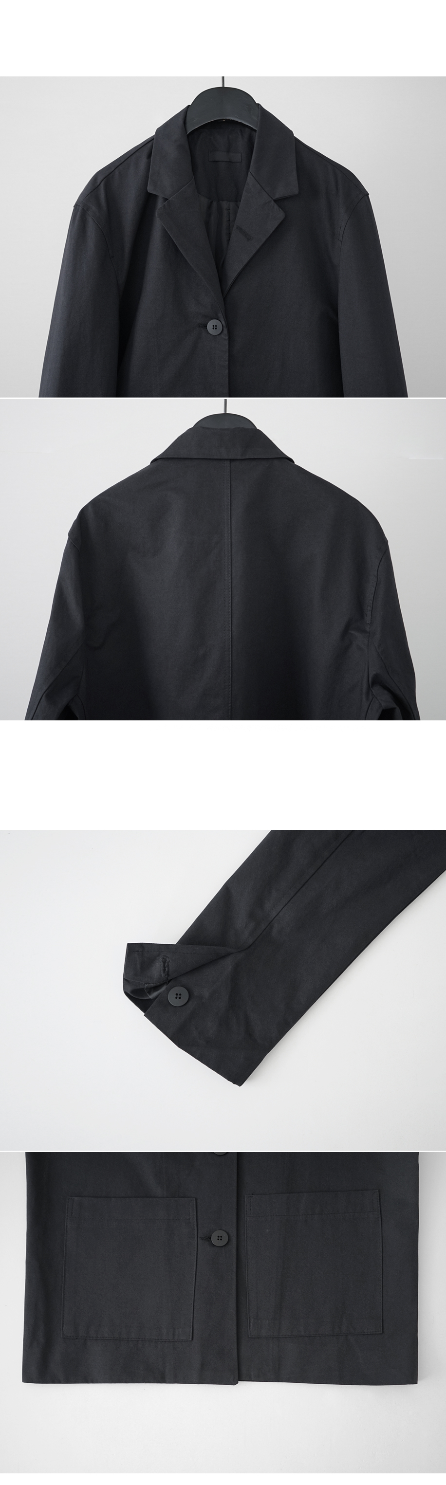 well made three button single jacket