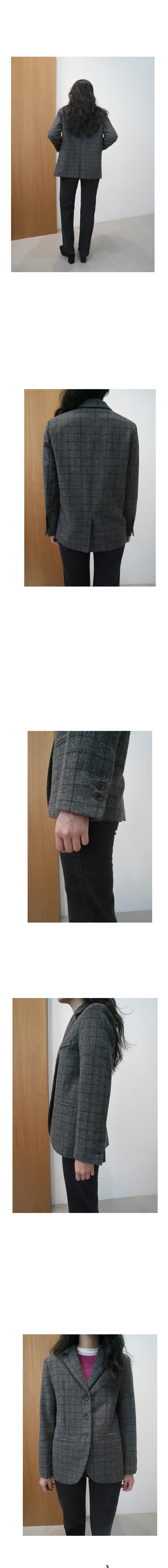 deep color wool plaid jacket