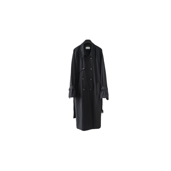 clean double trench coat