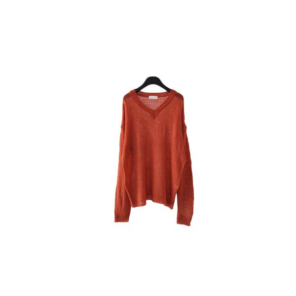 deep mood V-neck over-fit knit