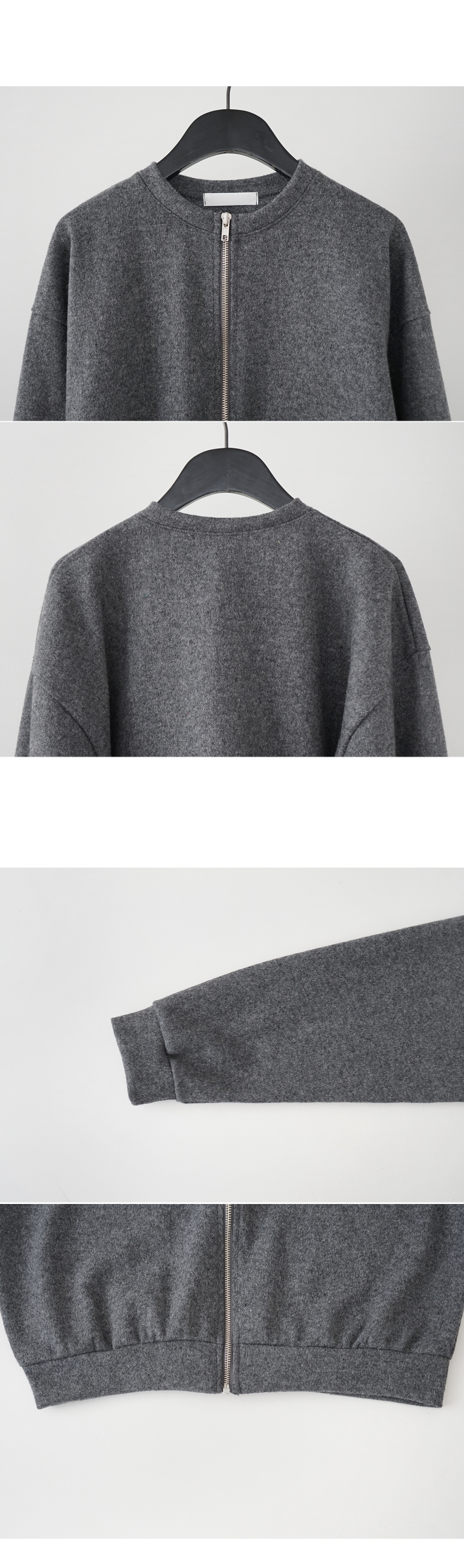 wool texture crop jumper
