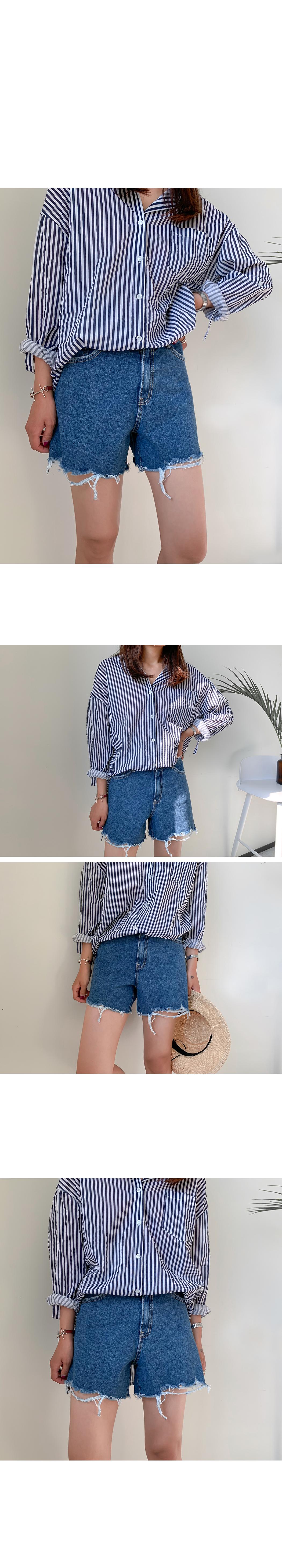 Vintage hem denim shorts