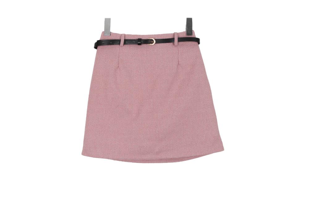Dori check skirt