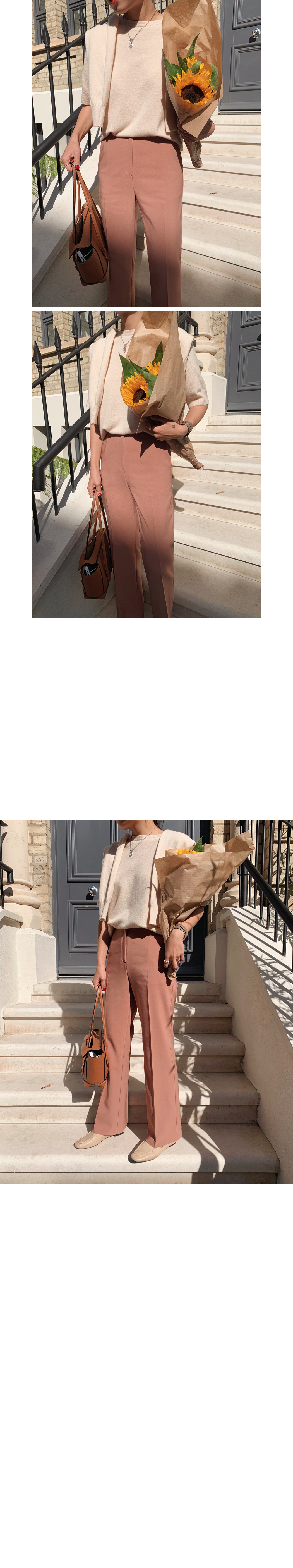 Portobello Pine Wool Cashmere Short Sleeve Knit