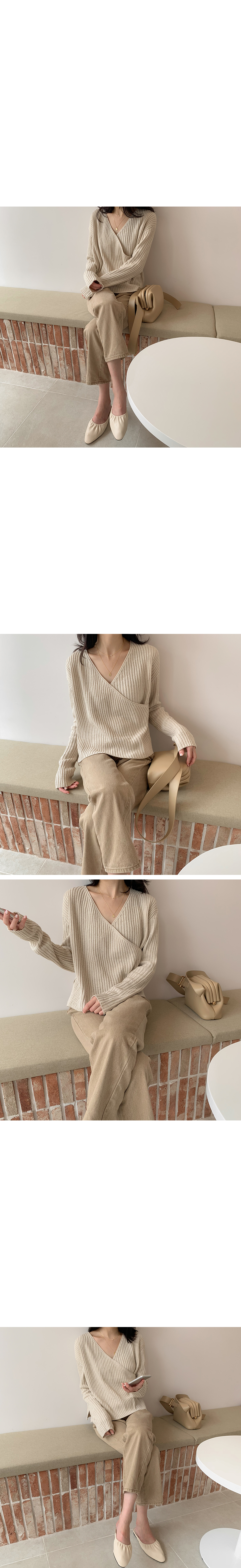 Century Ribbed Wrap Knit