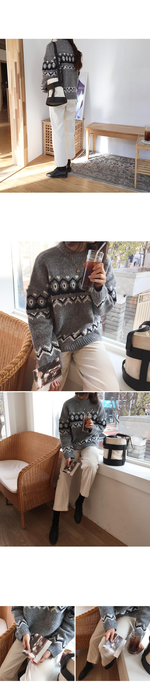 Nordic - vintage knit [size: 44 ~ 66 / 3color]