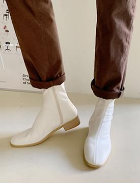 Blonde flat ankle boots_C