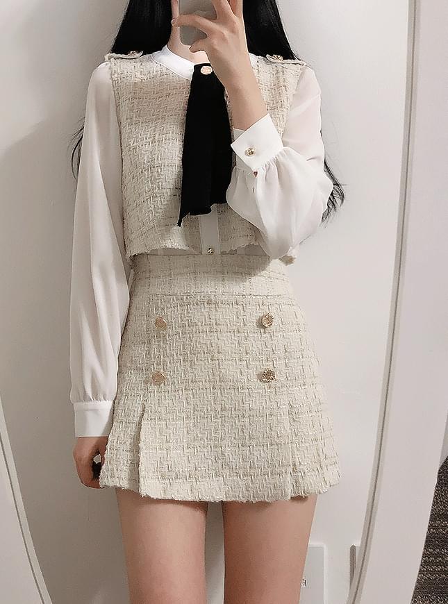 Rochelle tweed skirt pants