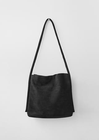 one handle suede bag