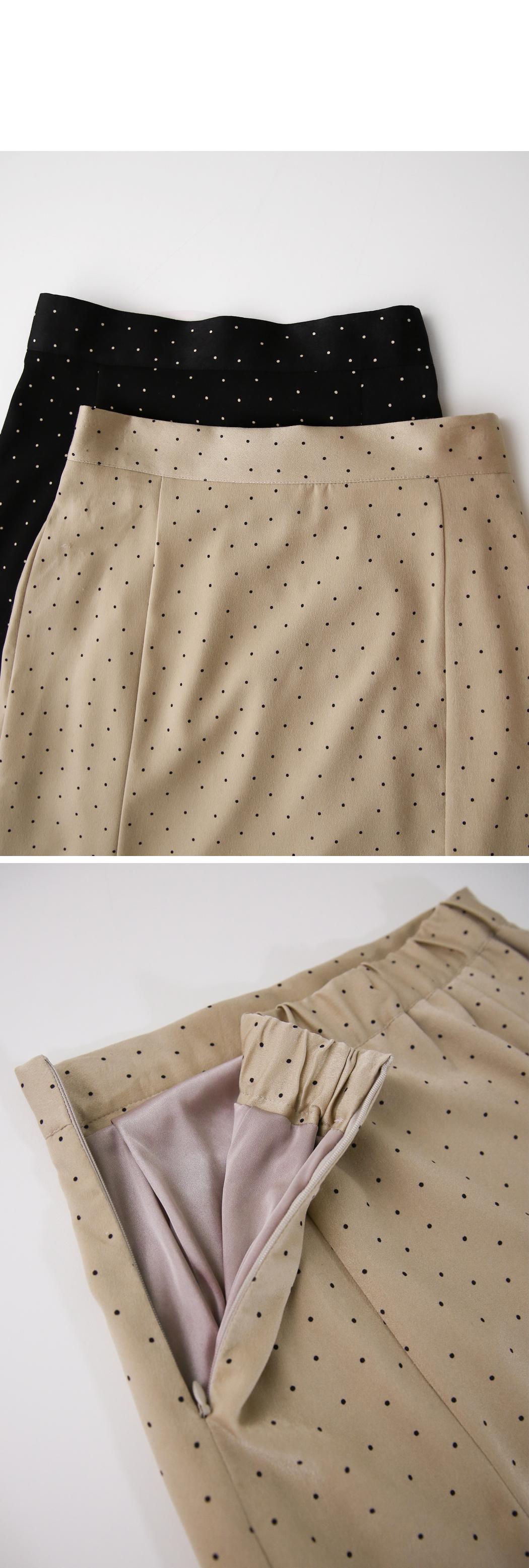 Peach-dot Mermaid Skirt