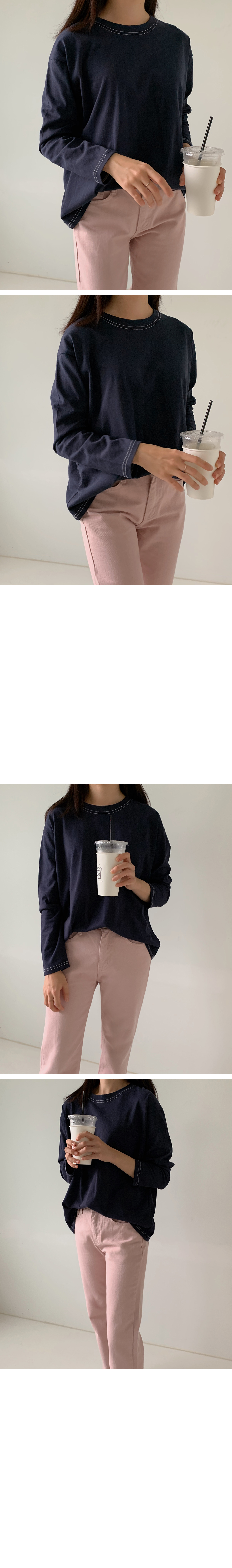 Special Price / Cotton Stitch Long Sleeve Tee
