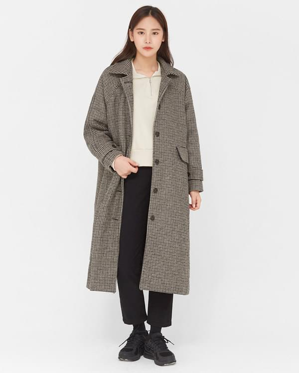 bonita check napping wool coat (인기상품 배송지연)
