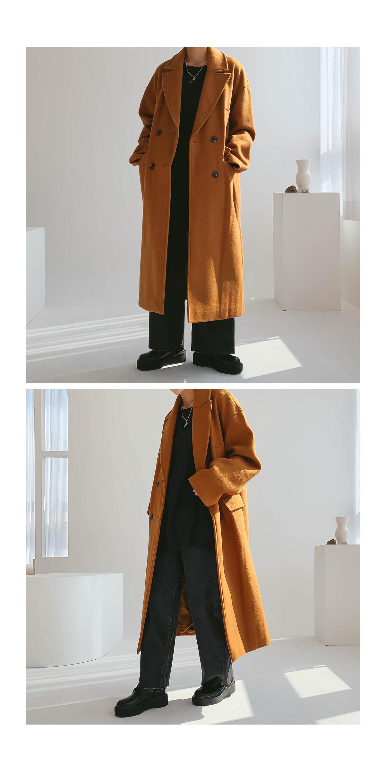 Overfit True Double Long Coat