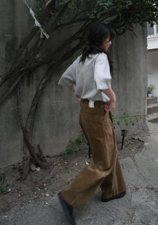 velvet odd wide pants