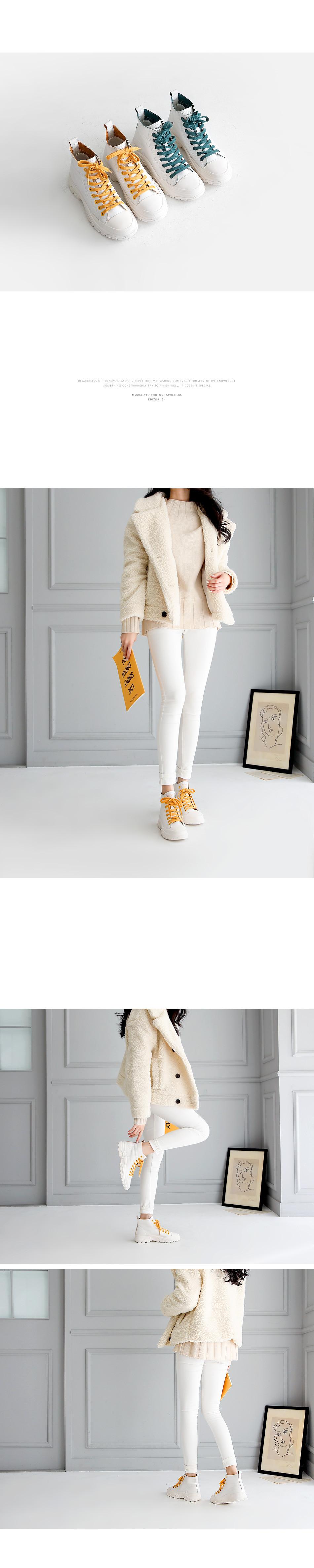 Luceta Leather High Top Sneaker 4cm