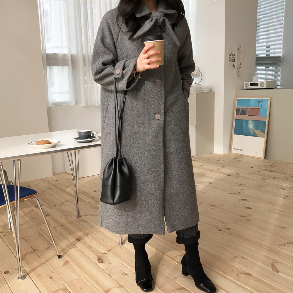 Paris wool long coat