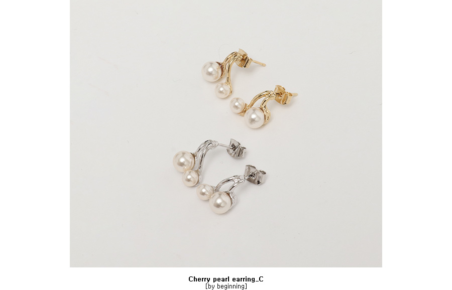 Cherry pearl earring_C