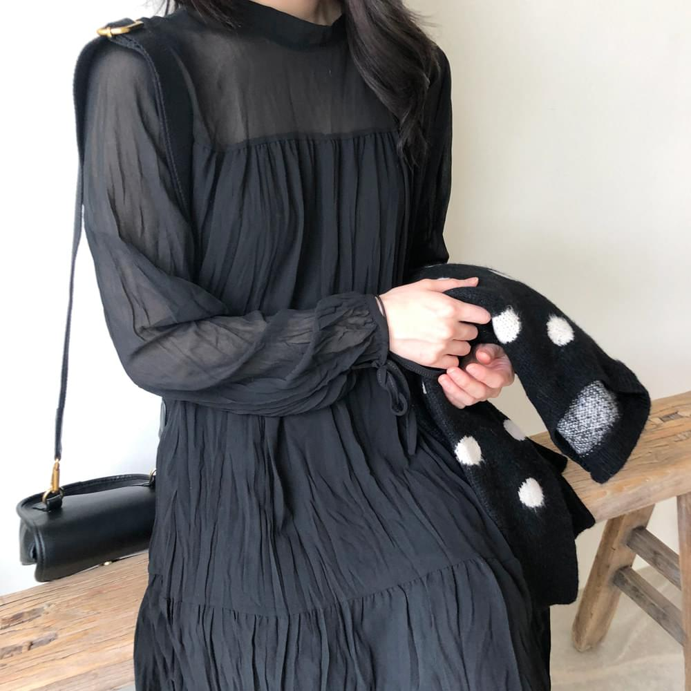 Perfume Wrinkle Chiffon Long Dress