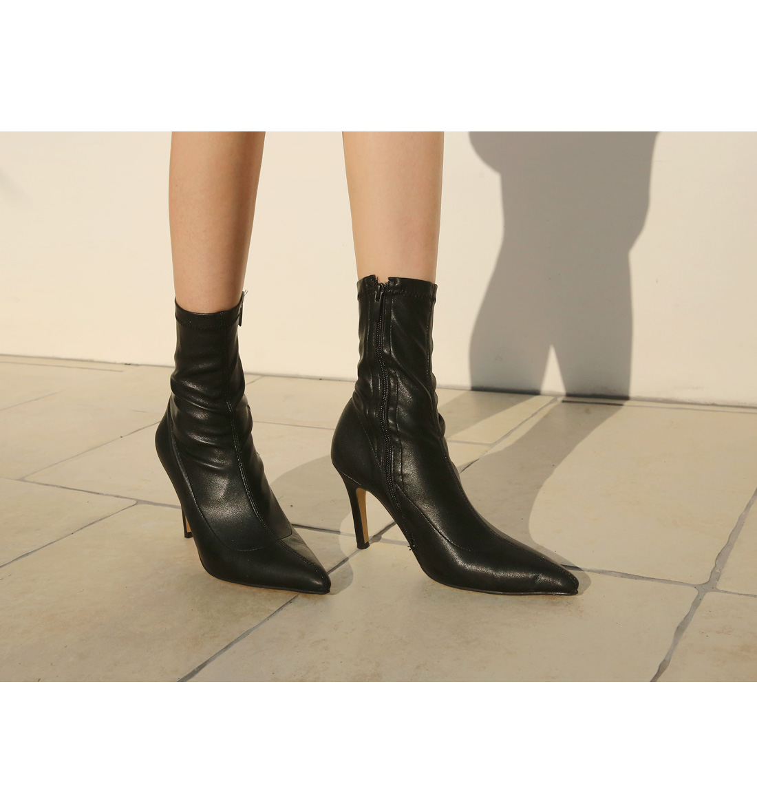 SLIM SPAN STILETTO ANKLE BOOTS