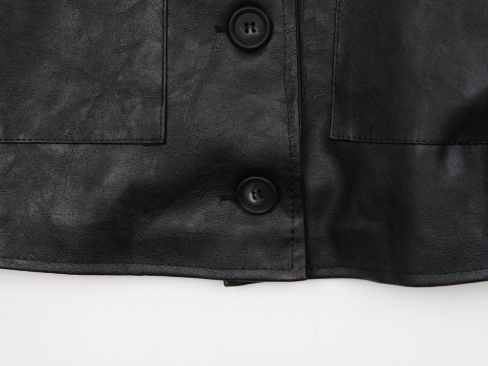 Fancy Button Leather JK