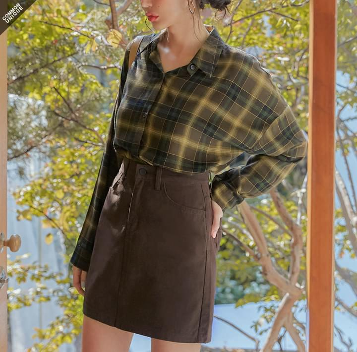 MARDEN RAYON CHECK LOOSE FIT SHIRTS