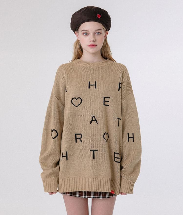 Heart Pattern Knit