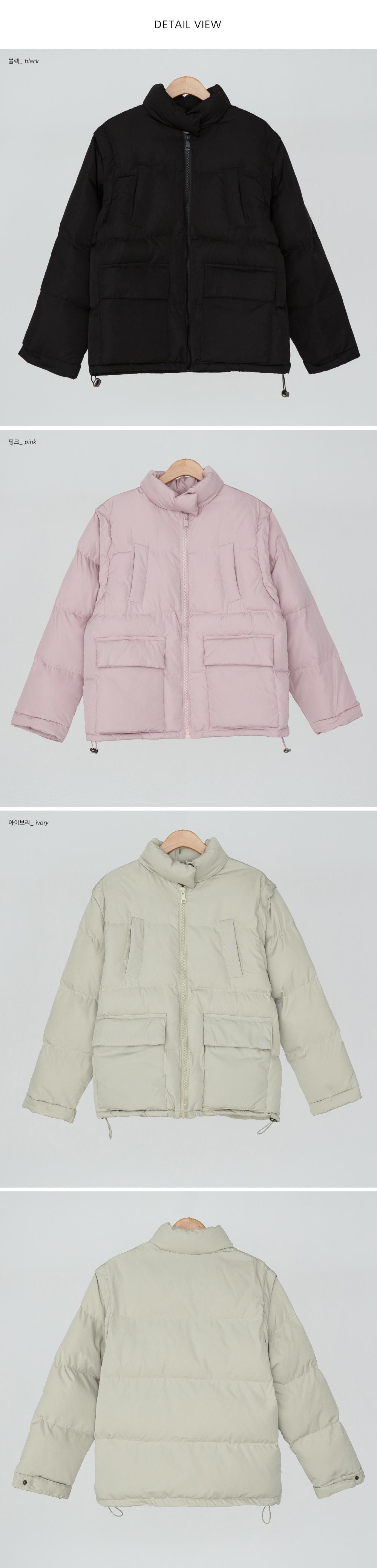 High Neck Wellon Padded Vest & Jumper-jp
