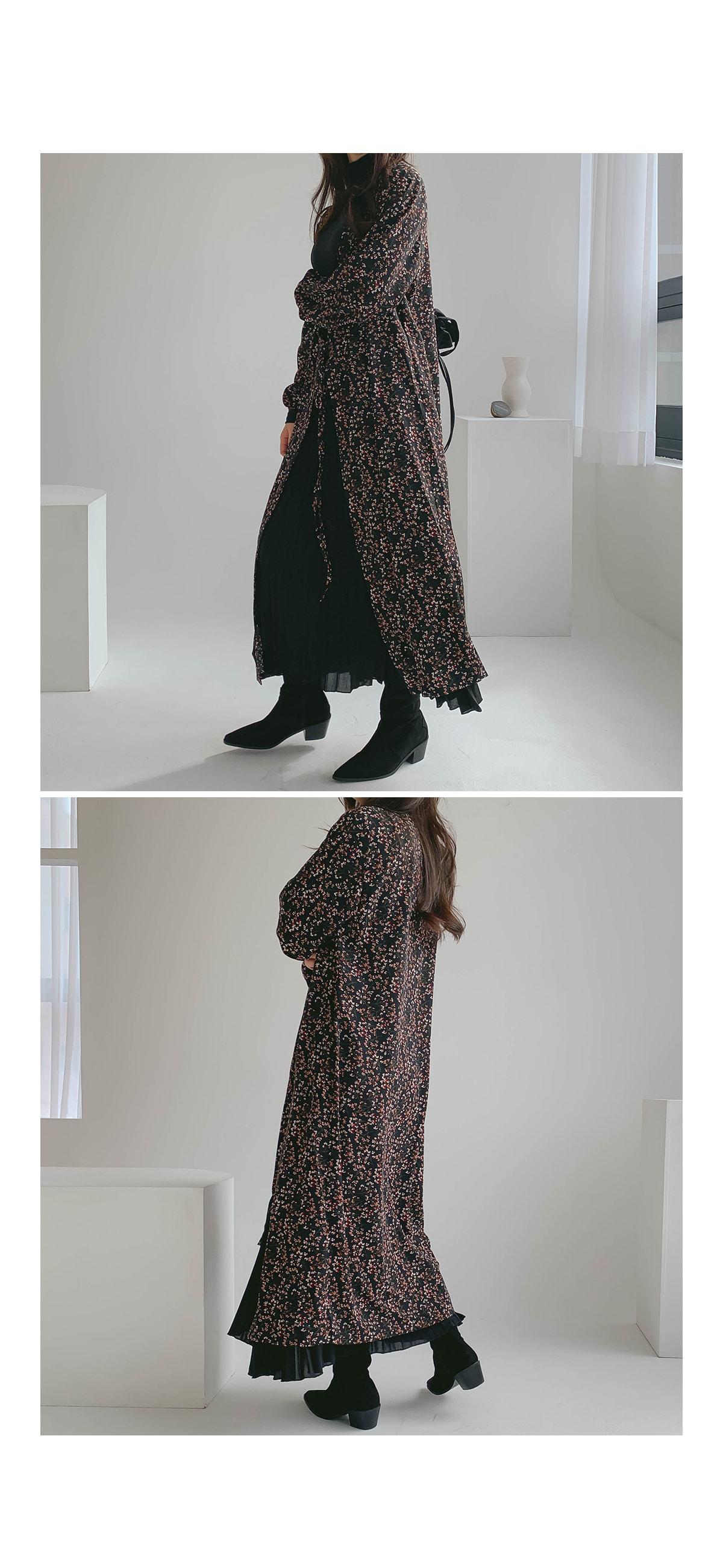 Flower Shua Chiffon Long Dress