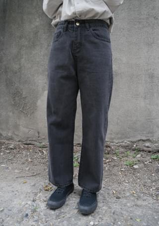 lazy fit denim pants
