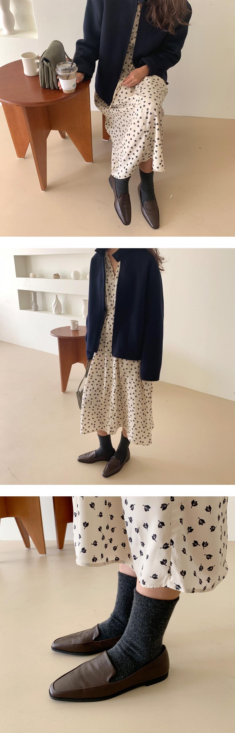 Simple angora wool socks_C (size : one)